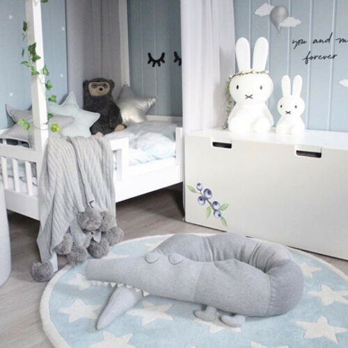 185cm Baby Crocodile Style Pillow Cushion Infant Bed Crib Fence Bumper Kid Room