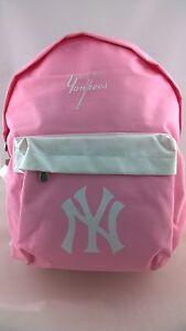 Image Is Loading Childrens NY Yankees Pink Backpack Gym Bag Wallet