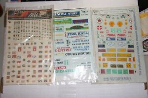 HO  ASSORTMENT OF VINTAGE SIGNS & POSTERS DECALS    FROM ESTATE