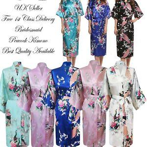 Bridesmaid Kimono | Fashion Peacock Women Bridal Bridesmaid Kimono Robe Satin Night