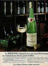 Publicité Advertising 1981  RIESLING vin blanc d'Alsace