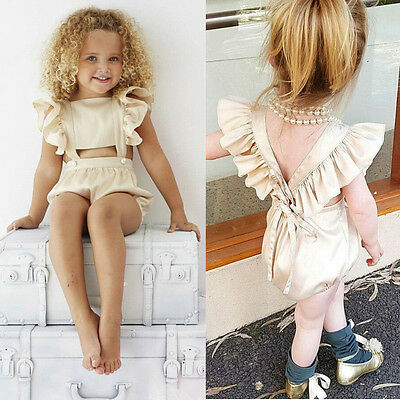 Summer Toddler Baby Girl Kid Outfit Bodysuit Romper Jumpsuit Sunsuit Clothes CW