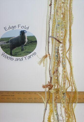 60m 20 x 3m Variety Pack Yellow knitting wool yarn Craft Weaving Oddments Bundle