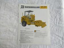 1985 Cat Caterpillar Cp 323 Vibrator Compactor Construction Equipment Brochure