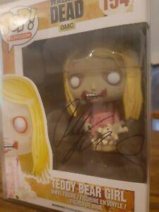 Funko Pop The Walking Dead Teddy Bear Girl 154 Signed Addy Miller (VAULTED!)