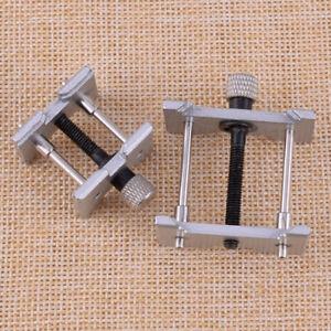 2x-Uhr-Gehaeusehalter-Werkhalter-Uhrenwerkzeug-Reparatur-Uhrmacher