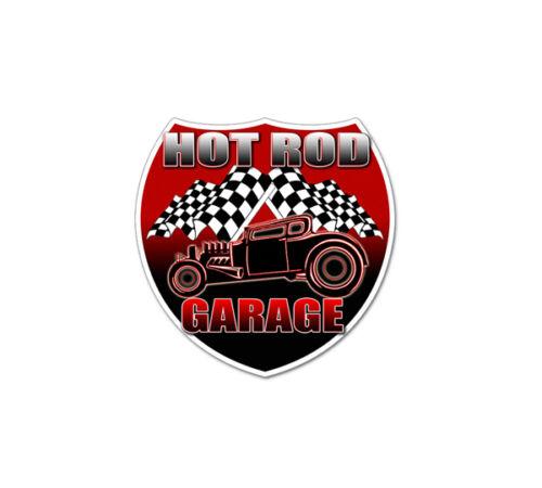 "HOT ROD Garage Vintage Hot Rod HUGE GIANT Decal Vinyl Stickers 2 pack 12/""x12/"""