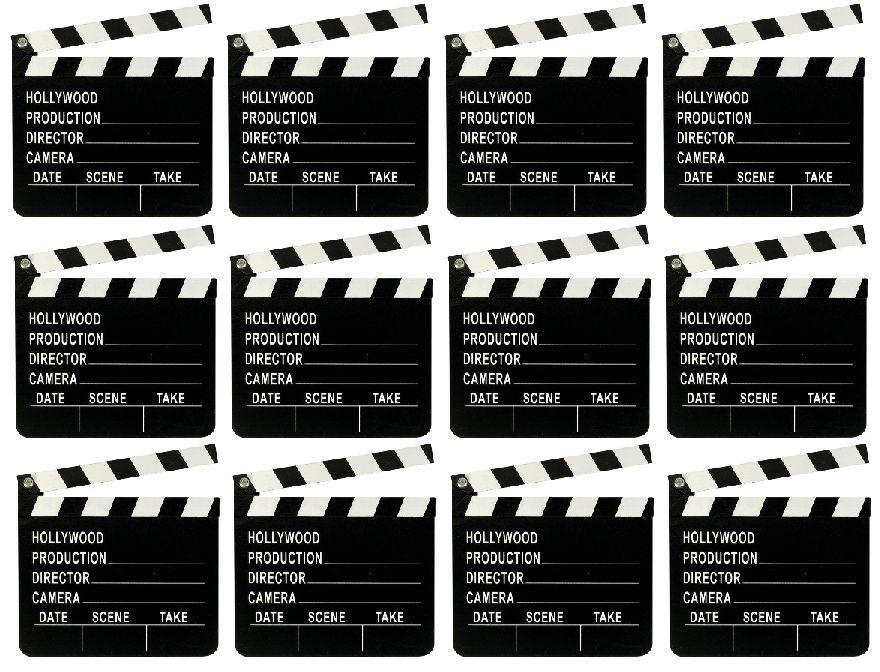 10 x Wooden Directors Clapperboard Clapper Board Film Movies Party Prop U09 059