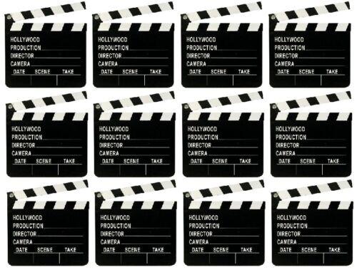 10 X Directores Claqueta Board Película Chapaleta de madera películas Party Prop U09 059