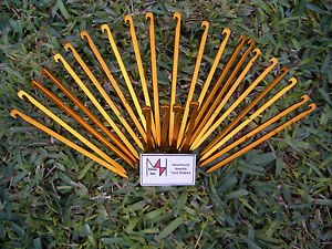 Image is loading MLH-Wilderness-Supply-Aluminum-Ultralight-Needle-Tent- Stakes- & MLH Wilderness Supply Aluminum Ultralight Needle Tent Stakes - 25 ...