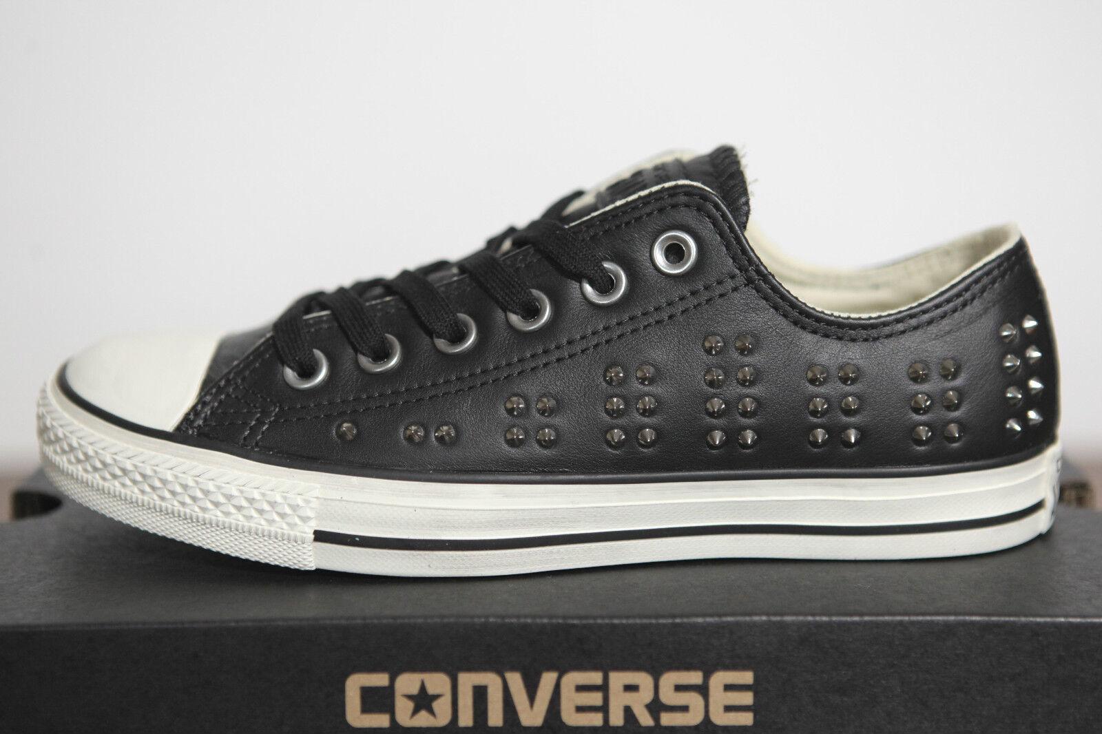 Neu Bll Star Converse Chucks low Leder Studded Nieten Schuhe 542417c