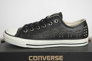 Neu Converse All Star Converse Neu Chucks low Leder Studded Nieten Schuhe 542417c 030039