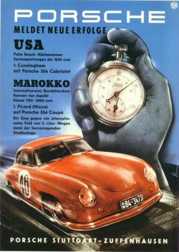 Vintage Porsche Racing Car Poster