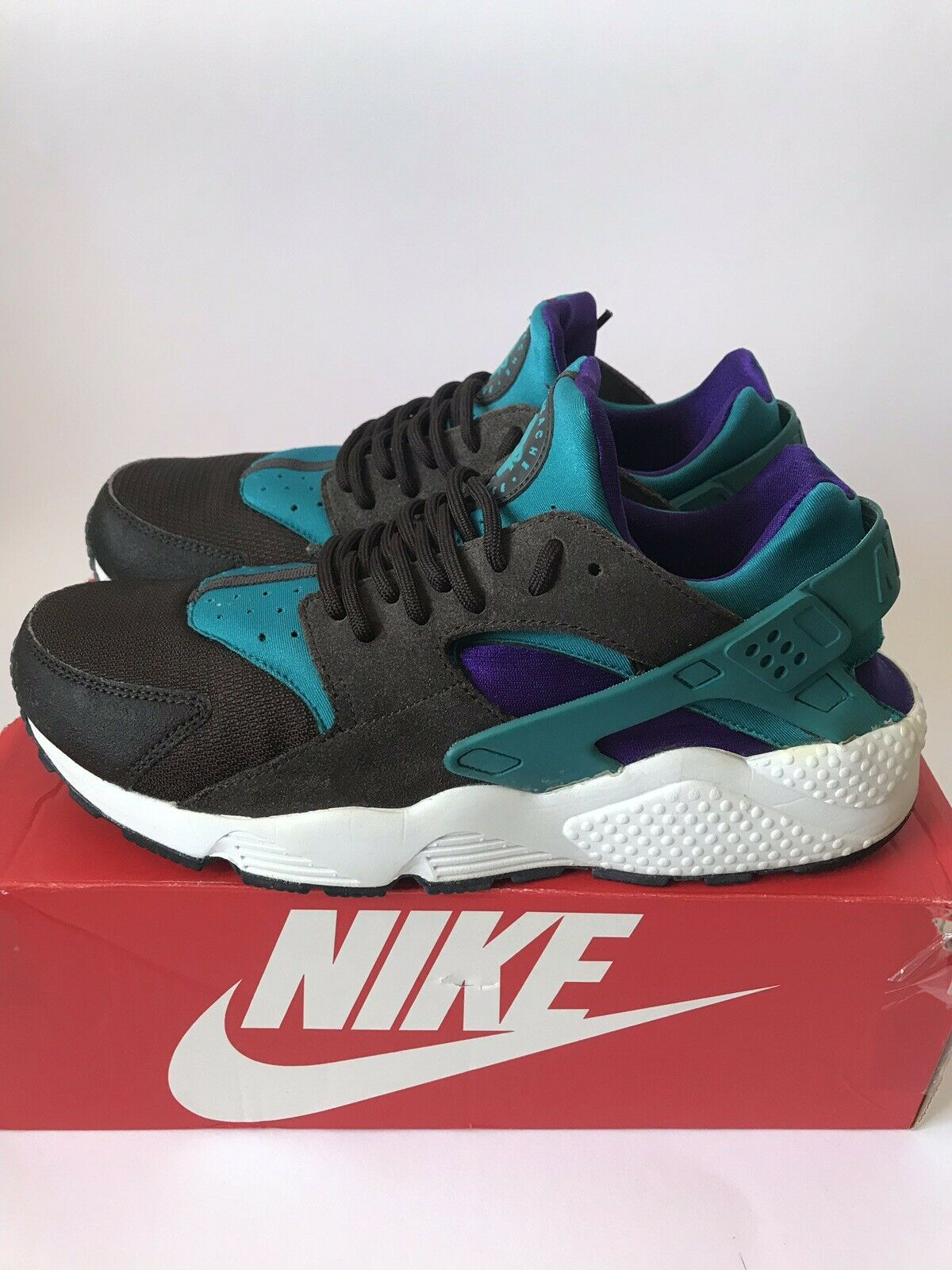 Nike Air Huarache Teal Classic Brown Uk9.5 Us10.5 Eu44.5
