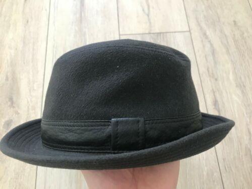 HERMES Unisex Men Women 100% Cashmere Leather Deta
