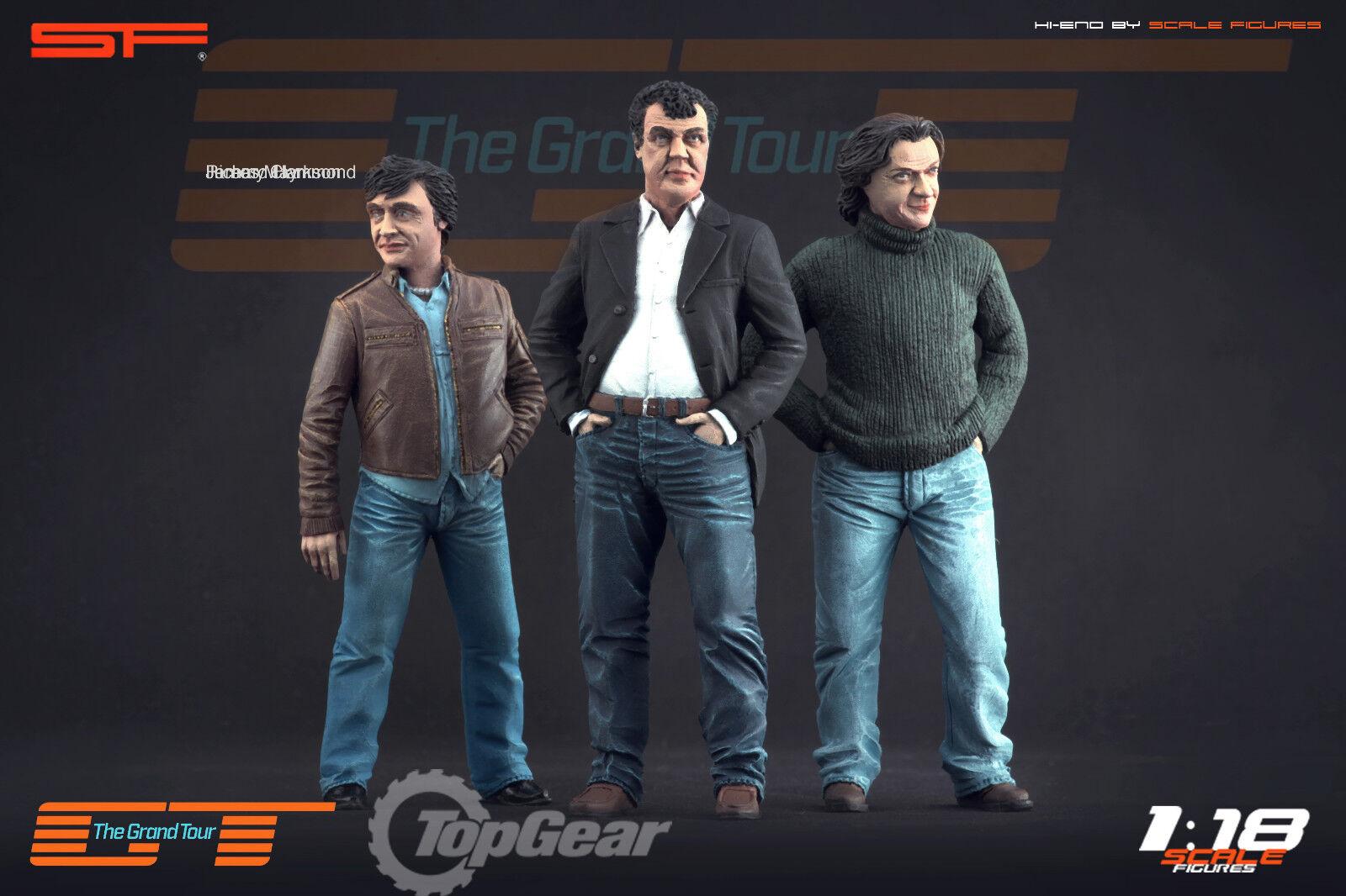 1 18 Grand Tour, Top Gear Trio statyer MYCKET RARE Herregud för 1 18
