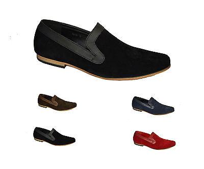 Nuevo Para hombres Italiano Imitación Gamuza Mocasines Mocasines Slip-Ons Conducción Zapatos UK 6-12