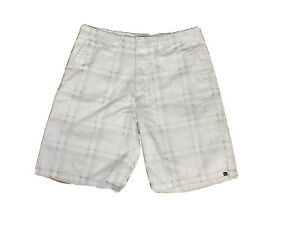 Quiksilver-Mens-Quickersilver-Walking-Golf-Shorts-W-36-White-Grey