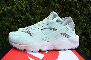 NIKE WOMENS AIR HUARACHE RUN SZ 6 IGLOO MINT WOLF GREY WHITE 634835 303