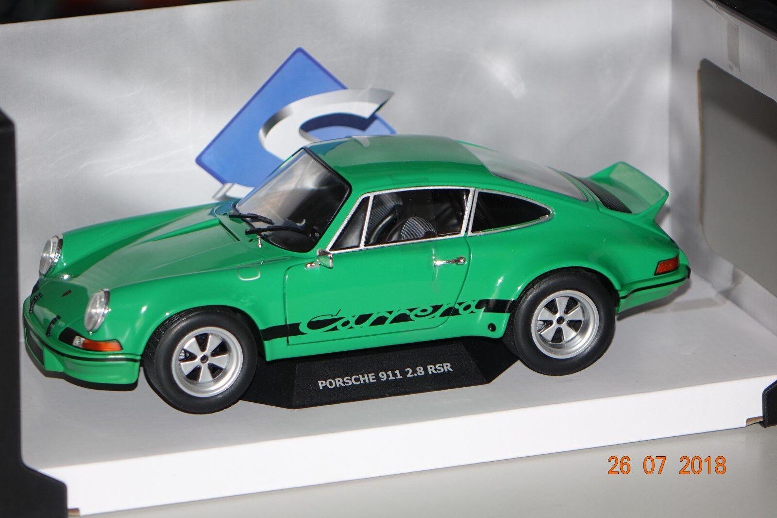 Porsche 911 2,8 RSR Carrera 1973 vert 1 18 Solido 1801102 NOUVEAU & NEUF dans sa boîte