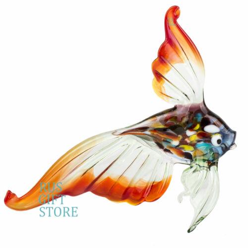 Gold Fish Blow Glass murano Figurine Big Size Handmade Russian Handicraftsman