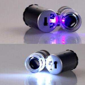 Handgeraet-Tasche-Mikroskop-Lupe-Juwelier-Silber-Vergroesserungsglas-Mit-LED-N-C8I6