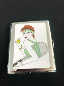 Personalized Expression Tennis Player Large Business Card Holder Tennis