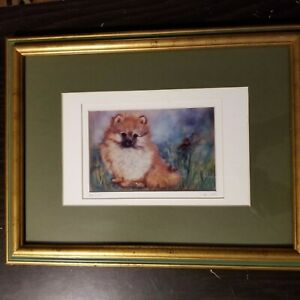 Limited-Edition-Framed-Signed-Numbered-Matted-Pomeranian-Print