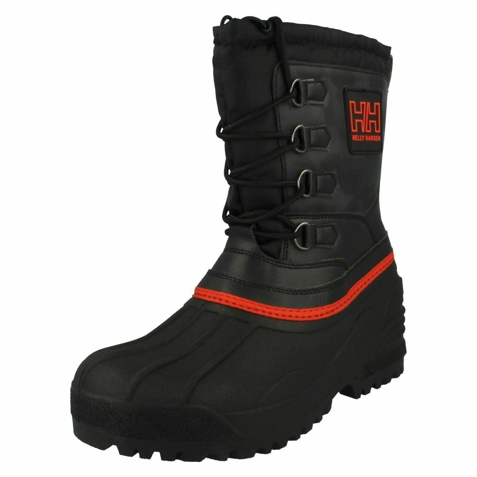 Mens Norefjell ap mid black synthetic textile laceup boot by Helly Hansen