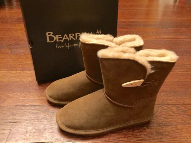 Bearpaw Kids Tall Emma Youth Boot 618Y Hickory II Suede 100/% Authentic New