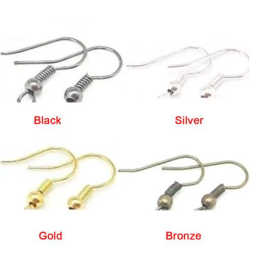Silver Earring Hook Coil Ear Wire For Jewelry Making Ear Hook s//