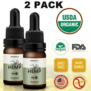 (2 PACK) Natural Hemp Oil Drops for Pain Relief, Anxiety,Sleep,Stress 3000mg*2