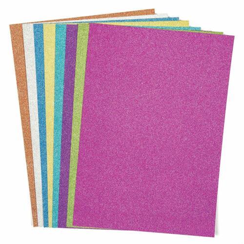 Tarjeta De Brillo A4 8 Hojas Colores Surtidos Niños Manualidades Papel Fiesta Invitaciones