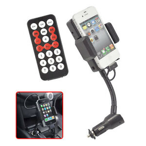 FM-Transmitter-Car-Charger-w-Remote-For-iPod-iPhone-3G-3GS-4-4S