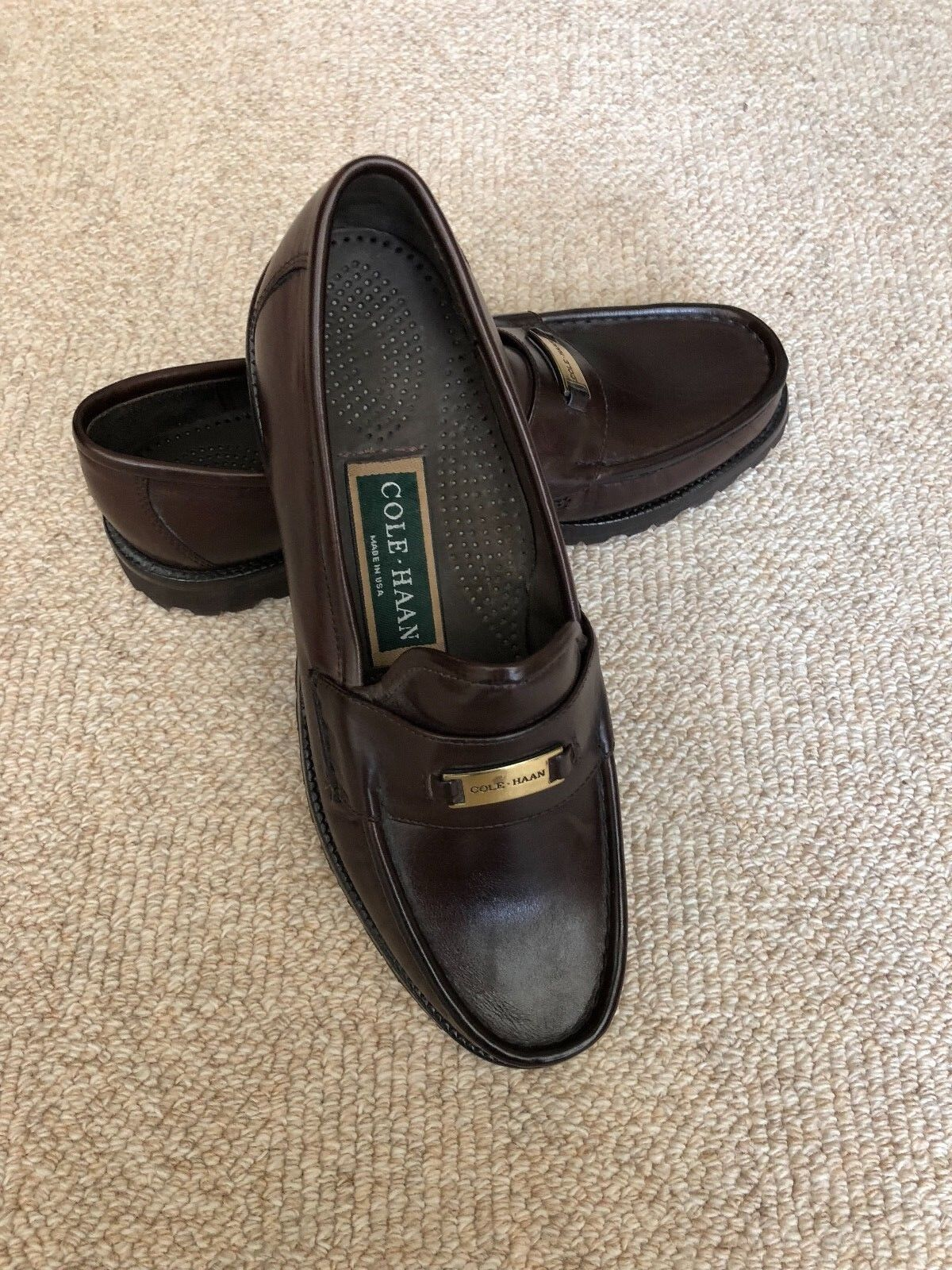 NWOB Cole Haan Oxford Coloree Slip  On Leather Loafer Moccasin scarpe Dimensione 7.5M  basta comprarlo