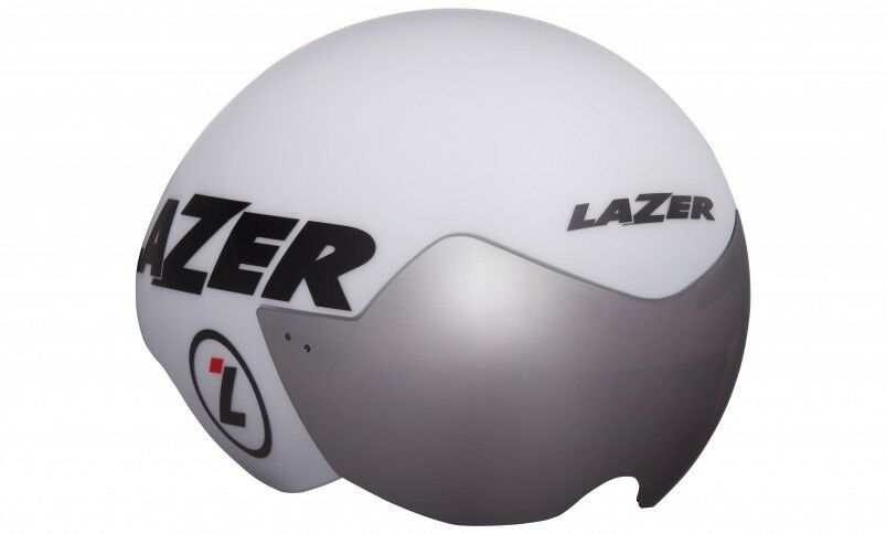 New Lazer Men's Victor Triathalon Time Trial Cycling Helmet - Size Small - White