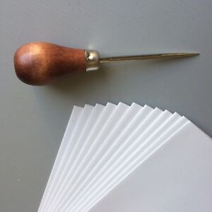Awl-bodkin-pricker-wooden-handle-sewing-bookbinding-upholstery-brad-awl