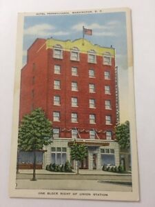 Vintage-Postcard-Unposted-Hotel-Pennsylvania-Washington-DC