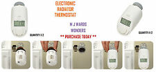 Electronic Radiator Thermostat - With Timed Temperature Control - Qty 2