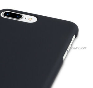 Case-Cover-for-Apple-iPhone-8-PLUS-Black-Matte-Rubberized-Finish-Hard-Shell
