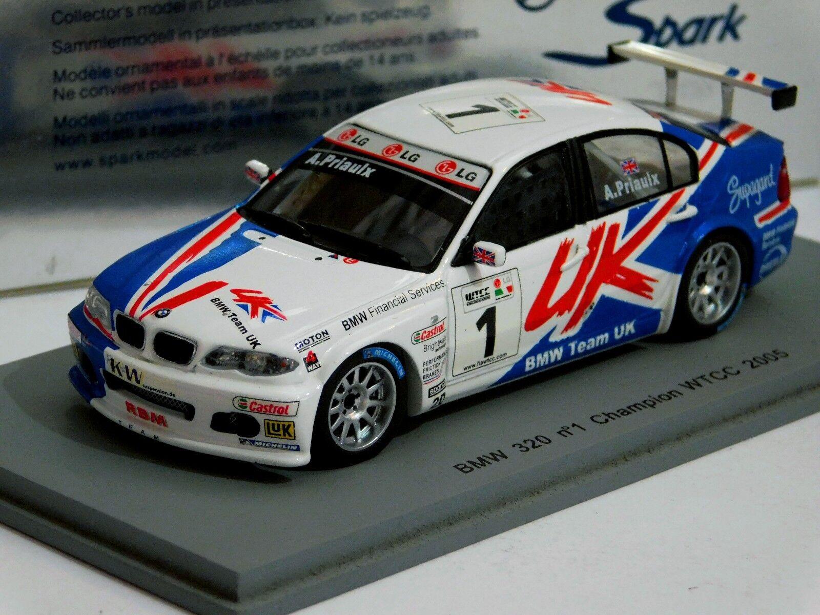 online barato BMW 320  1 Andy Priaulx Campeón WTCC 2005 2005 2005 Spark S0427 1 43  ¡envío gratis!