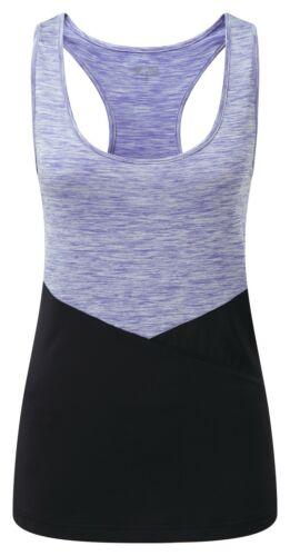 Womens Medium 12//14 Yoga fitness vest mesh side panel lilac marl//black