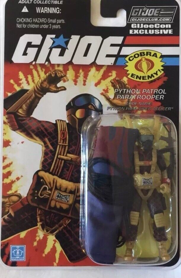 Joecon 2018 GIJOE CONVENTION Python Patrol Paratrooper Para viper Officer autoded