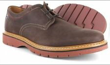 Clarks Newkirk Plain Mens Shoe Dark Brown Nubuck 7G 41EU