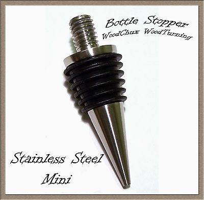 Bottle Stopper Kit Stainless Steel Mini Cone Fast Shipping Woodturning