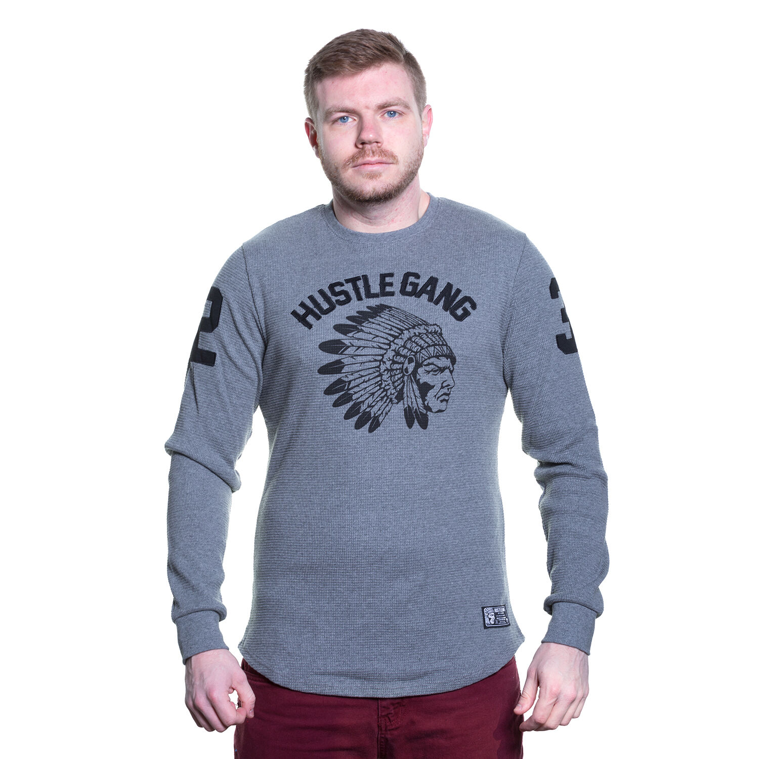 T.I Hustle Gang Long Sleeve EmbroideROT Thermal Authentic Fast Ship