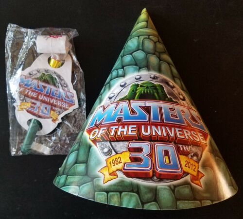 SDCC Comic-Con 2010 MOTU He-Man Party Hat /& Blower Exclusive Promo NICE!