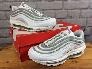 Nike-Da-Uomo-UK-6-EU-40-AIR-MAX-97-BIANCO-LUPO-GRIGIO-SILVER-BULLET-Scarpe-Da-Ginnastica-Rrp-145