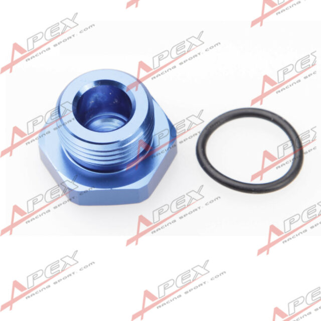 -8 AN 8AN AN8 Flare Plug Fitting with O RING seal Aluminum Blue AN Plug