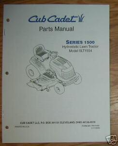 cub cadet slt1554 illustrated parts list manual ebay rh ebay com Cub Cadet SLT 1554 Manual cub cadet slt1554 repair manual